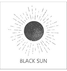 Monochrome hipster grunge vintage label vector image vector image