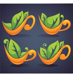 organic drink vector image vector image