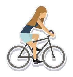person figure athlete bike ride sport icon vector image