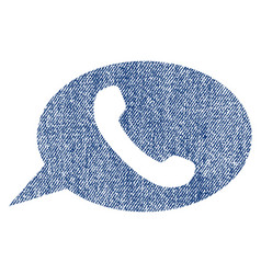phone message fabric textured icon vector image vector image