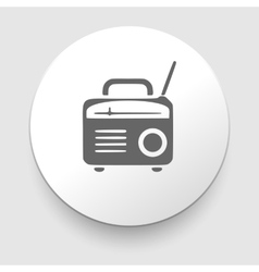 retro radio icon silhouette vector image