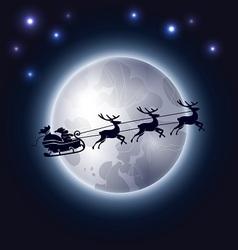 Santa Claus and the moon vector image vector image