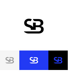 Sb monogram logo from letters s and b vector