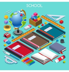 School Set 07 People Isometric vector image vector image