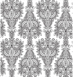 Seamless pattern with hand drawn asian vector