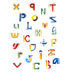 Set of full alphabet decorative letters vector image vector image