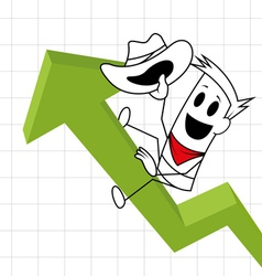 Square guy - rodeo chart vector image