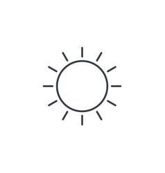 sun yellow thin line icon linear symbol vector image vector image