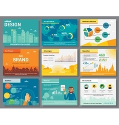 Urban design of infographics presentation slides vector image vector image