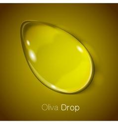 Vegetable oil drop vector