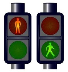 Walking man traffic lights vector