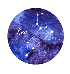 Watercolor horoscope sign leo vector