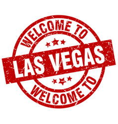 Welcome to las vegas red stamp vector