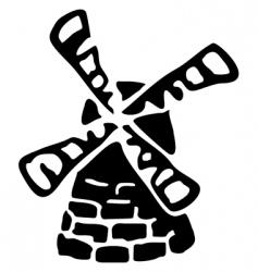 windmill sketch vector image vector image