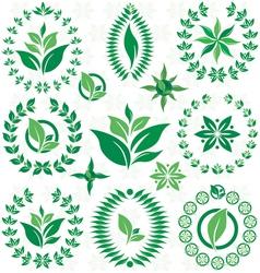 Laurel wreath and leaf set vector image