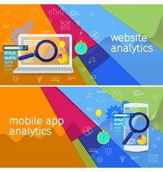 Seo data analysis concept vector