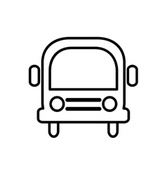 Bus transportation school education icon vector