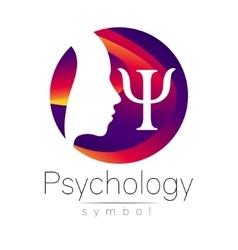 Modern head logo sign of psychology profile human vector
