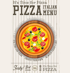 Italian pizza poster vector