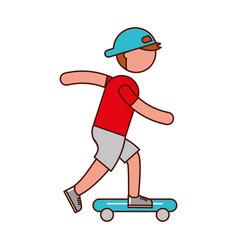 ethlete practicing skete board avatar vector image