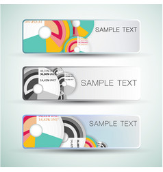 Diagrams abstract banners vector