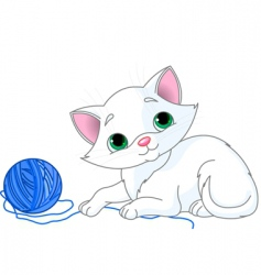 playful kitten vector image