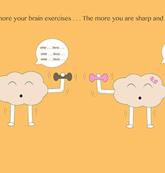 Brain cartoons exercise vector