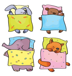 Animals sleeping vector