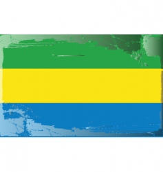 Gabon national flag vector