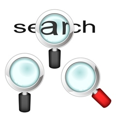 Set of magnifying glasses vector