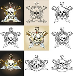 Pirate tattoo vector