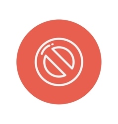 Stop thin line icon vector