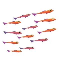 Group of small fish icon vector