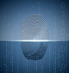 Scanning a fingerprint technology background vector