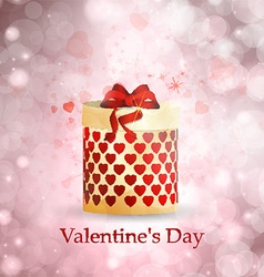 Postcard valentines day vector