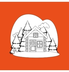 Log cabin design vector