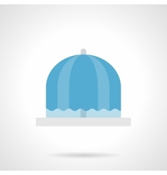 Flowing fountain flat color icon vector