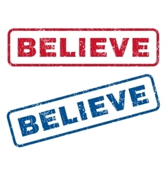Believe rubber stamps vector