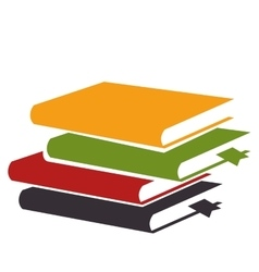 Books library isolated icon vector