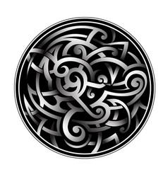 Celtic style tattoo vector