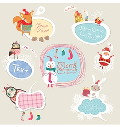 Christmas set frames vector