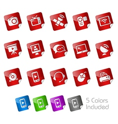 Communications Stickers vector image