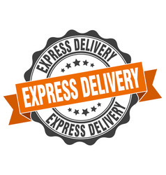 Express delivery stamp sign seal vector