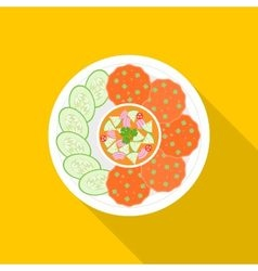 Fish cakes vector image vector image