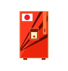 Japanese food vending machine design vector
