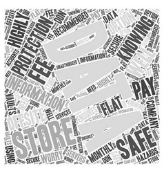 Knowing your data is safe word cloud concept vector