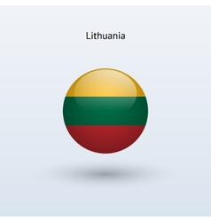 Lithuania round flag vector image vector image