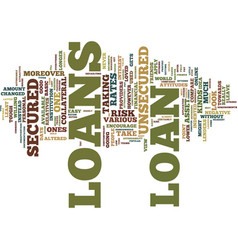 Loans for the contemporary borrower text vector