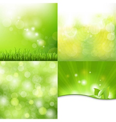Nature background set vector