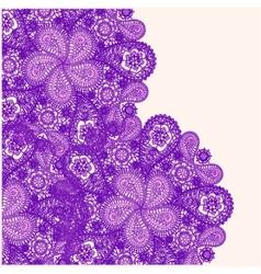 Ornamental winter hand-drawn lace snowflake vector image